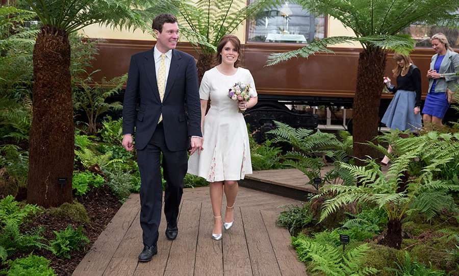 Jack Brooksbank and his girlfriend Princess Eugenie also stayed at Balmoral.
