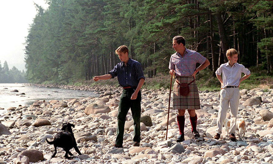 Harry, Prince William and Prince Charles have holidayed at Balmoral since the boys were young.