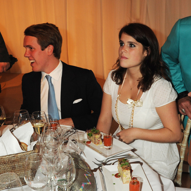Princess Eugenie and her new beau Jack Brooksbank attended the Elephant Parade auction in the summer of 2010, which benefitted London's  Royal Hospital Chelsea.