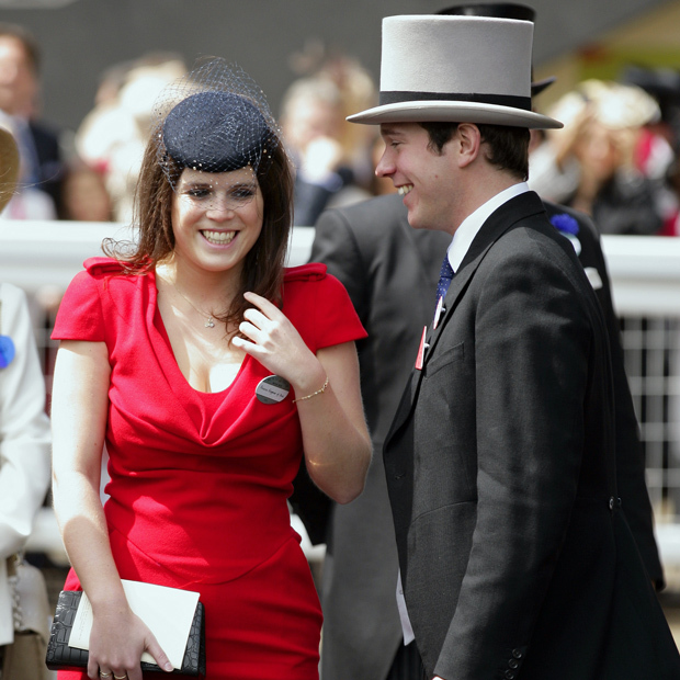 Nightclub manager Jack was already at ease in royal circles as he accompanied Princess Eugenie to Royal Ascot in 2011, where the happy couple shared a laugh.