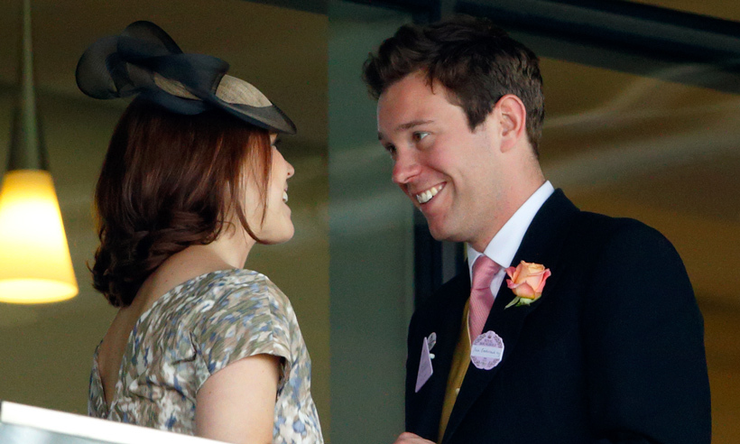 It's no wonder the couple appeared so happy - Princess Eugenie had just moved back from New York to London, so their multi-year long-distance stretch had come to an end! And if this isn't the look of love, we don't know what is...