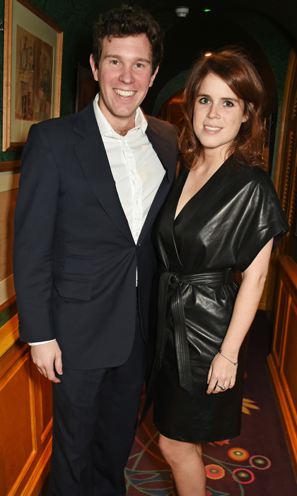 Jack and Eugenie posed for photographs together inside the well-known nightclub Annabel's, where socialites and celebrities gathered to celebrate the unveiling of GP Nutrition Supplements.
