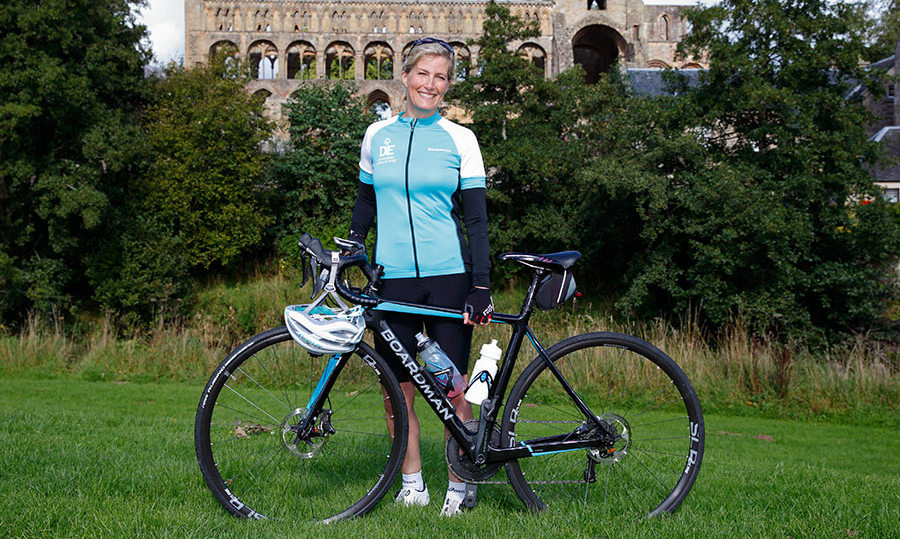 Sophie Wessex Kicks Off Her 445 Mile Cycle The Queen