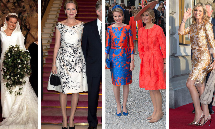 <h3>Queen Maxima of the Netherlands & Queen Mathilde of Belgium - Edouard Vermeulen