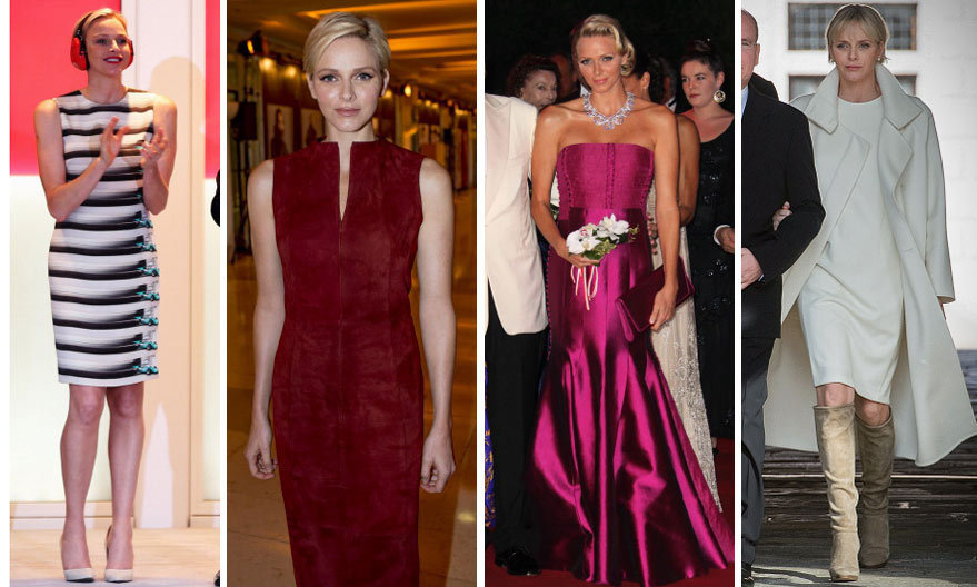 <h3>Princess Charlene of Monaco - Akris