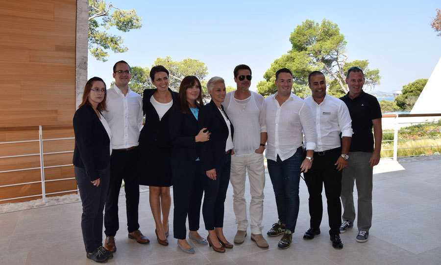 In early September, the <em>Fight Club</em> star traveled to Sibenik, Croatia sans family to meet with business partners to discuss a possible $1.5 billion real estate project on the Adriatic coast. The actor met with acclaimed architect Nikola Basic and investors to see the site of a new development in Zablace that would include luxury villas, a golf course, shops and a flagship hotel.
