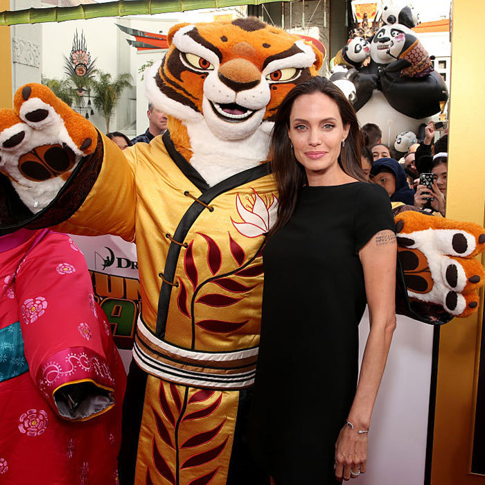 The mom of six made the January premiere of her movie <em>Kung Fu Panda 3</em> in Los Angeles a family affair, attending with her kids &ndash; Shiloh, Vivienne, Knox, Zahara and Pax.