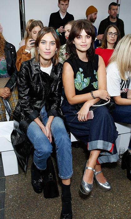 Henry always pulls a cool crowd, and his friends Alexa Chung and Pixie Geldof made sure to cheer him on from the front row.
