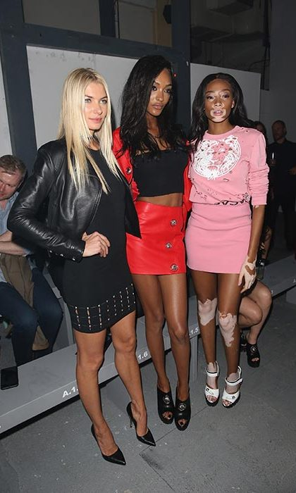 Other big names on the FROW included Anna Hart, Jourdan Dunn and Winnie Harlow.