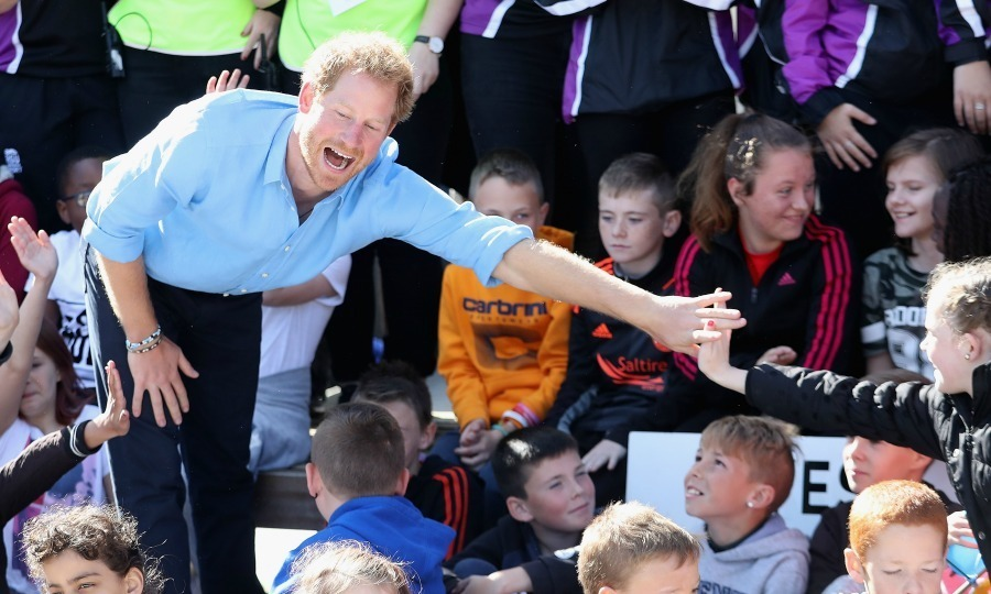 Harry proved to be a big hit with the youngsters he met.