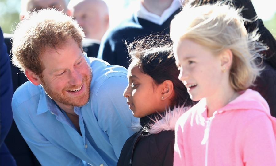 Harry took the time to chat with as many children as he could during his visit.