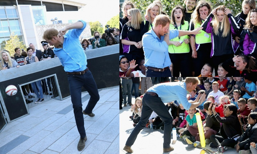 <p>Prince Harry had a fun-filled day of mentorship and sports on Tuesday. The 32-year-old Prince travelled to Aberdeenshire in Scotland to meet with youngsters who are training to become mentors at the Mackie Academy.