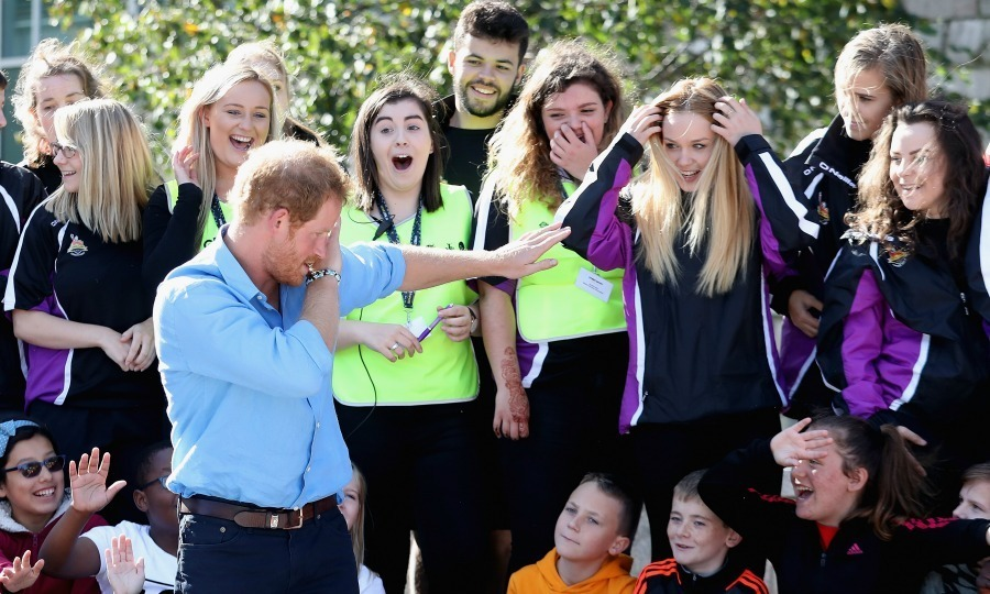 "Just like his older brother, Harry isn't afraid to bust a move! The fun royal surprised a group of girls when he hit ""the dab"" - a dance move that involves raising an arm and an elbow that has been said to resemble sneezing.