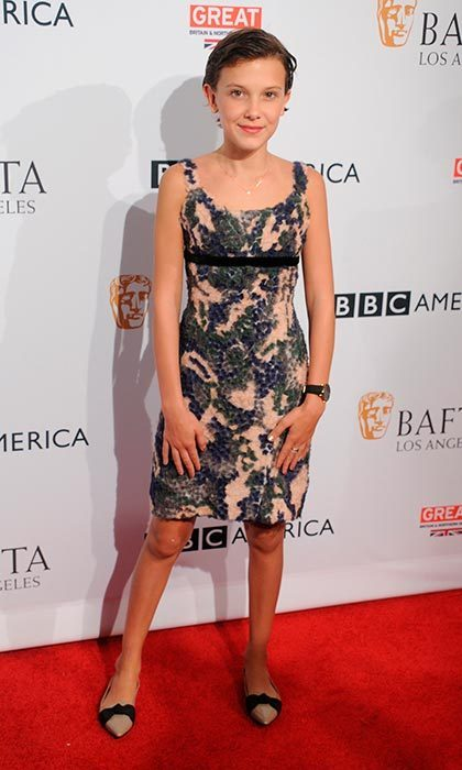 Burberry dressed the young star for the BBC America BAFTA Los Angeles TV Tea Party at The London Hotel in September 2016.