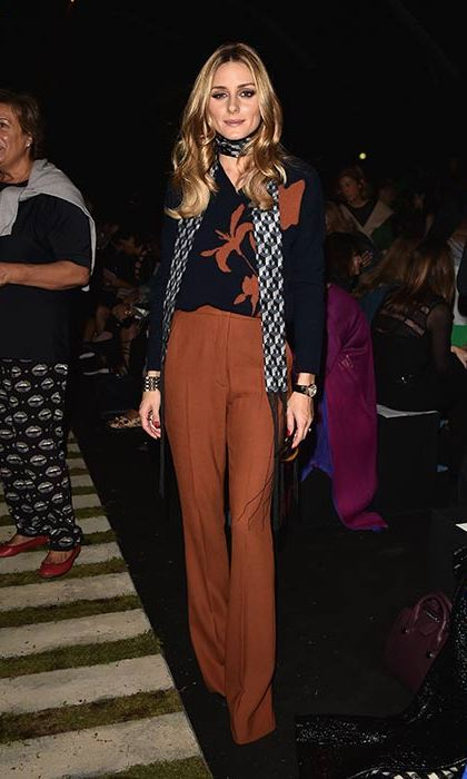 Olivia Palermo looked stylish as ever as she sat on the front row for the Max Mara presentation.