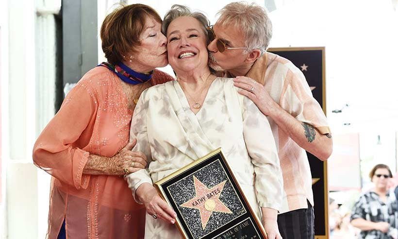 Shirley MacLaine and Billy Bob Thornton helped Kathy Bates celebrate her star on the Hollywood Walk of Fame. The acclaimed actress has been nominated for three Oscars, winning one in 1991 for <i>Misery</i>. 