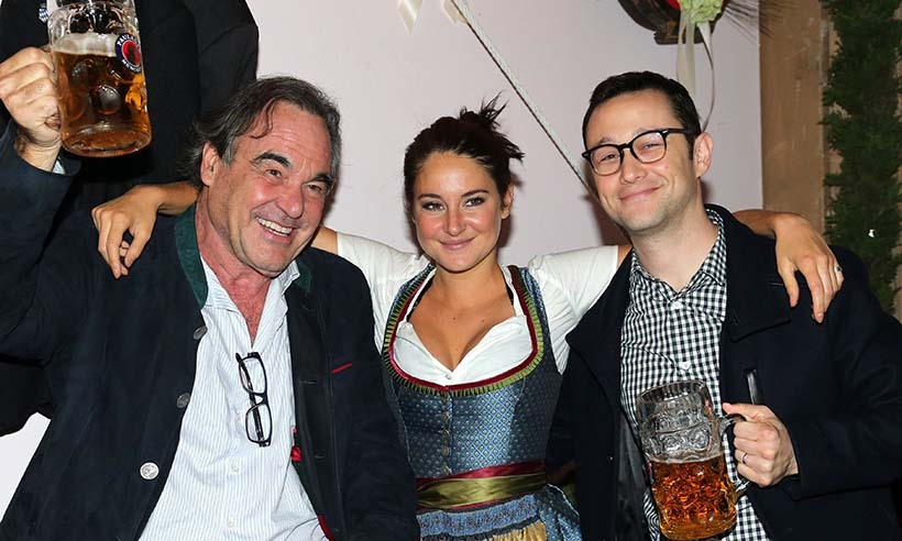 Fresh off their appearance at the Toronto International Film Festival, <i>Snowden</i> stars Shailene Woodley and Joseph Gordon-Levitt joined the film's director Oliver Stone at Oktoberfest celebrations in Germany. 