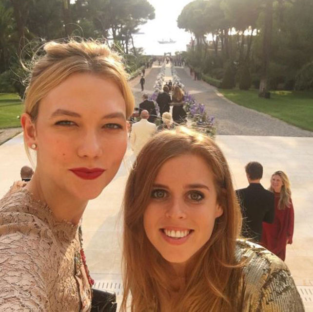 "Princess Beatrice was Karlie Kloss' ""date"" at a friend's wedding ceremony in France this weekend.