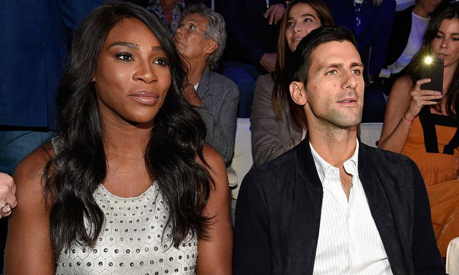 From the court to the FROW. Tennis stars Serena William and Novak Đoković attended the Giorgio Armani show during Milan Fashion Week.