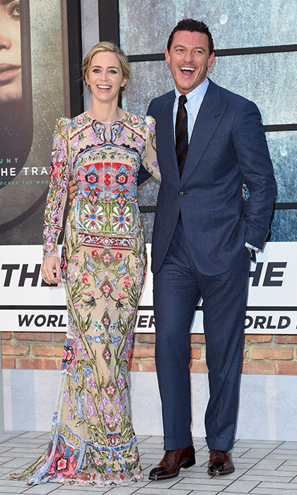 """I think that Luke Evans and Justin Theroux, who I have a couple of tussles with, were a bit nervous and cautious about it,"" said Emily. ""They were very kind.""