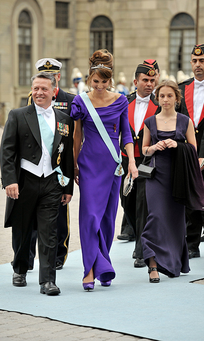 <p>At the wedding of Crown Princess Victoria to Prince Daniel in June 2010, Abdullah, Rania and Iman were among the royal guests.