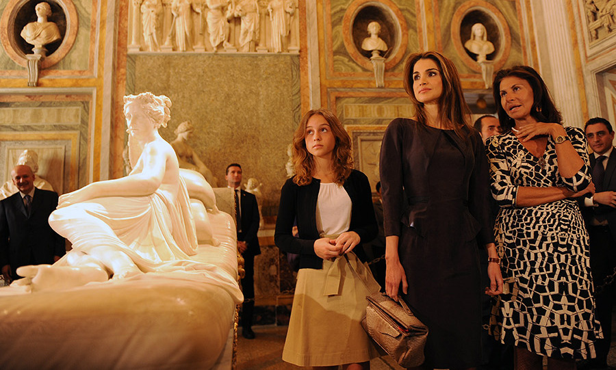 The following year she and her parents visited Rome, where the 13-year-old princess and her mum took a tour of the Borghese Gallery.
