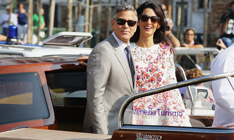 "Following their romantic September 2014 nuptials, George told <em>Hello!</em>: ""My verdict on being Mr. and Mrs. Clooney? It feels pretty damn great!""