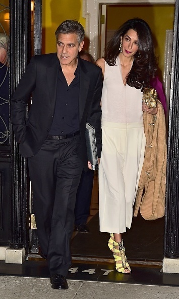 "Before their wedding, George gushed about his future spouse at a charity gala in Florence. ""I guess what I'd like to say to my bride-to-be Amal is that I love you very much, and I can't wait to be your husband.""