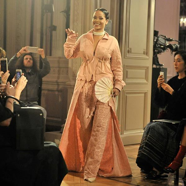 Rihanna launched her SS17 Fenty x Puma collection at Paris Fashion Week. 