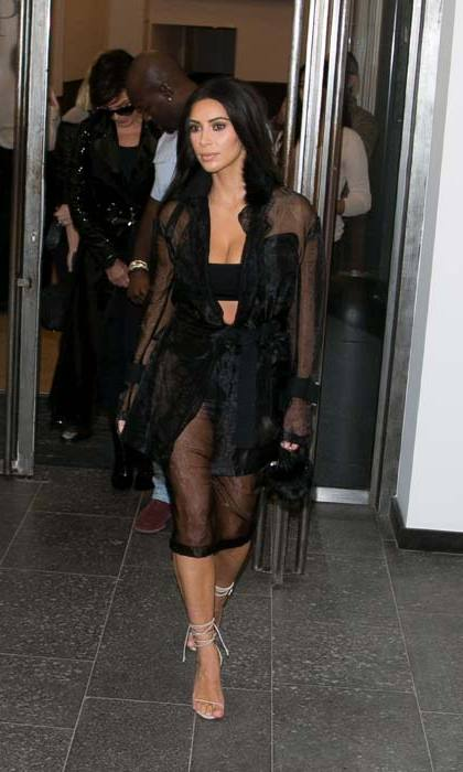 Kim Kardashian West sported a sheer sultry number as she stepped out in Paris.