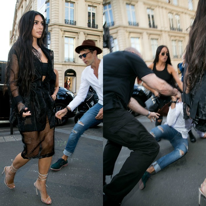 <p>Kim Kardashian narrowly avoided an encounter from prankster Vitalii Sediuk, who recently assaulted Gigi Hadid in Milan.