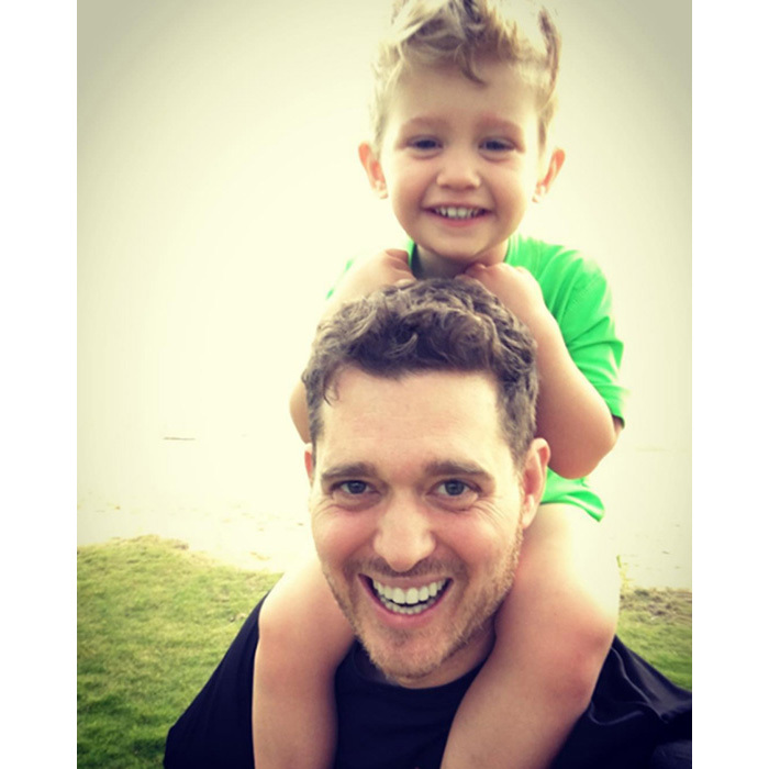 Michael Buble has a mini-me in his adorable three-year-old son, Noah. 