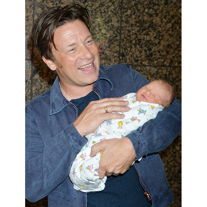 Jamie Oliver is a proud father-of-five, and regularly welcomed new arrival River Rocket. The chef has been sharing snaps of his beautiful family getting to know the latest addition over the past few weeks. 
