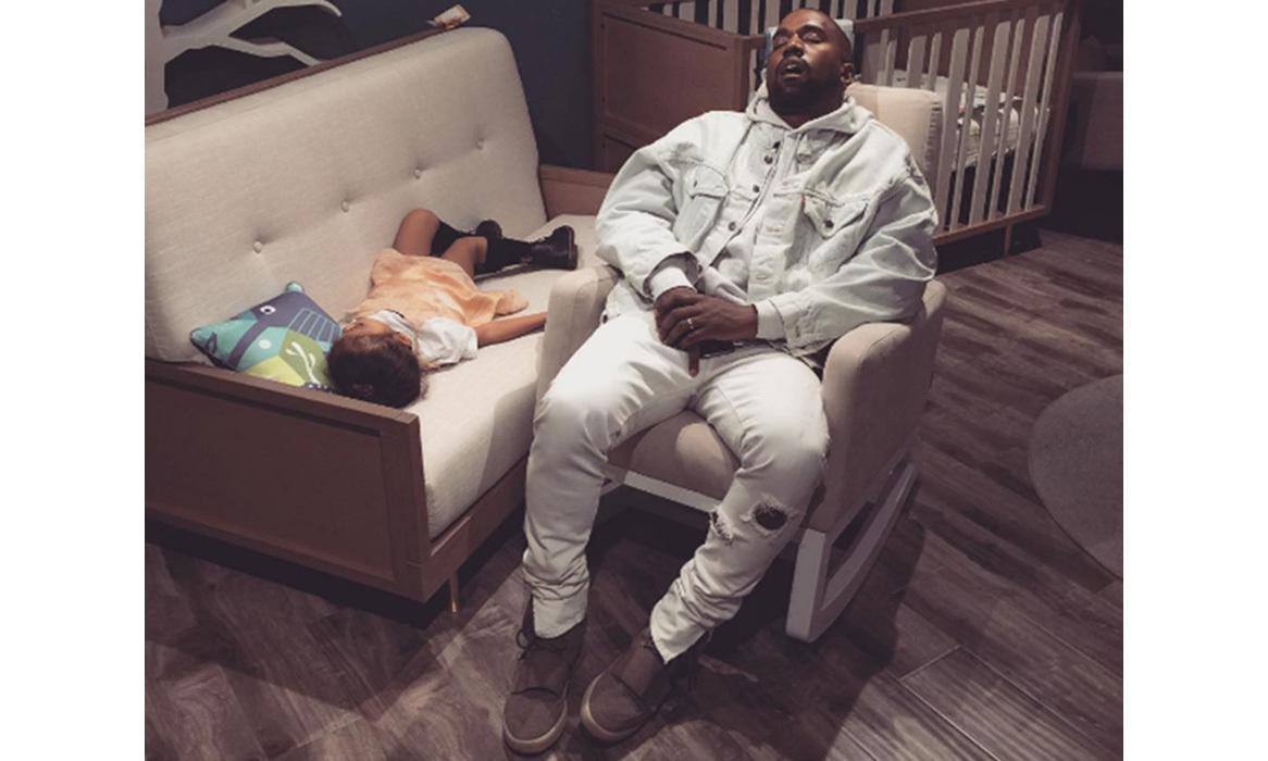 "Kanye West was THE typical dad while shopping for baby things, and ended up dozing with little North West in the middle of the store. Amused mum Kim Kardashian wrote: ""Kanye & North were a little too quiet. We found them passed out in the middle of the store."" 
