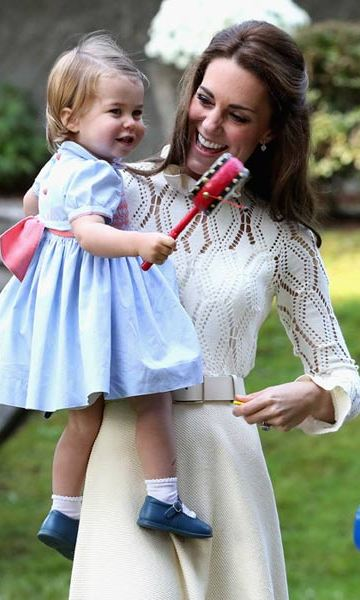 Kate looked pretty in See by Chloe as she attended a children's party with her children Prince George and Princess Charlotte.