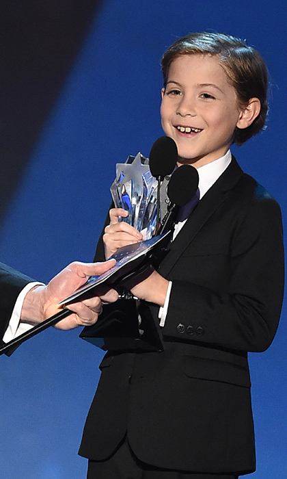 """I know where to put this. Right on my shelf next to my Millennium Falcon!"" - Jacob accepts the 2016 Critics' Choice Award for Best Young Actor/Actress. 