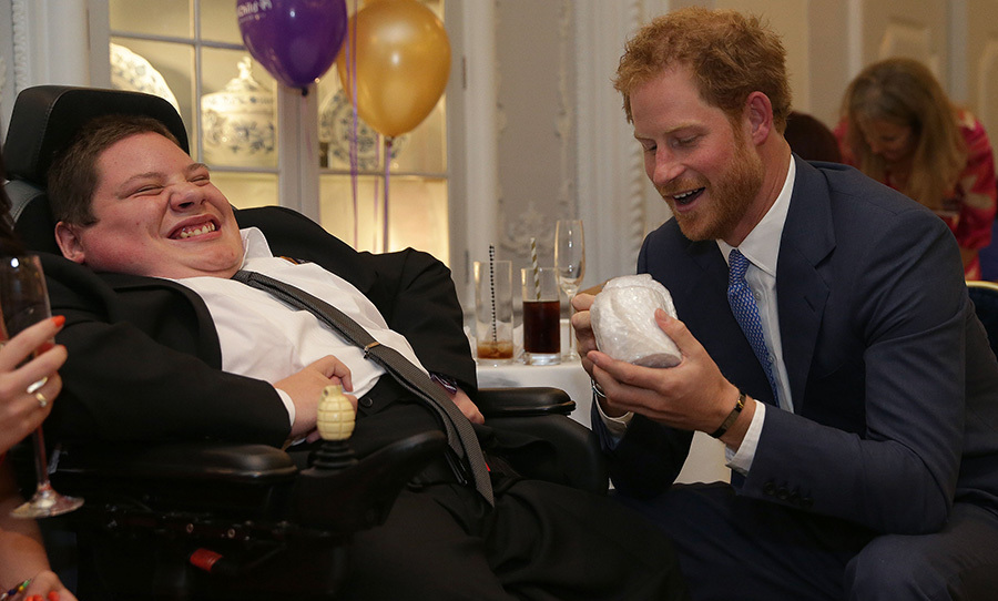 Joking around with Inspirational Young Person award winner Myles Sketchley.