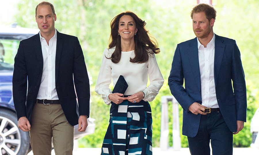 The royal trio are taking their mental health campaign sky high.