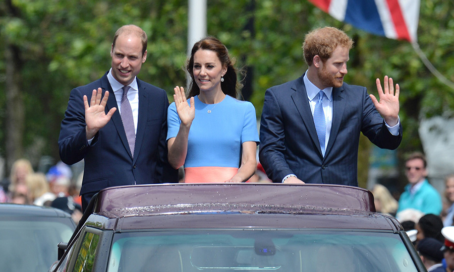 The royals will take a spin on the London Eye.