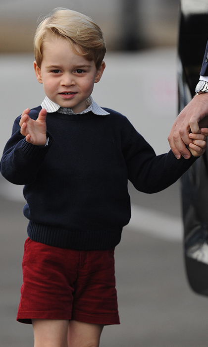 Prince George pictured last week on the Canada royal tour.