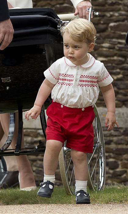Pictured at his sister Princess Charlotte's christening in July last year.