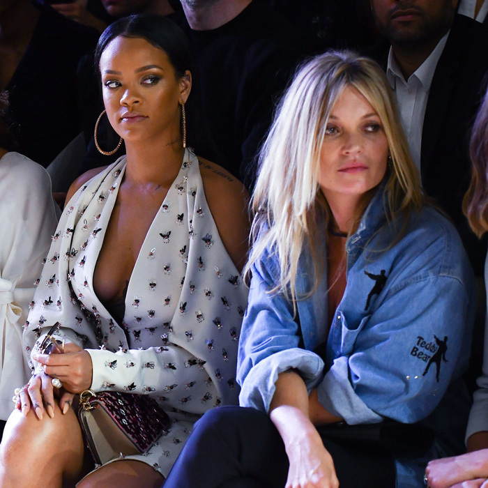 Rihanna and Kate Moss made a fierce duo at the Christian Dior show.