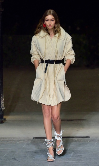 Gigi Hadid owned the runway during the Isabel Marant show. 
