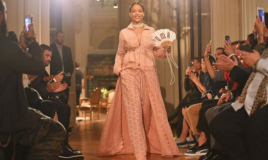 Rihanna worked it on the runway at her FENTY x PUMA show at the Hotel Salomon de Rothschild.