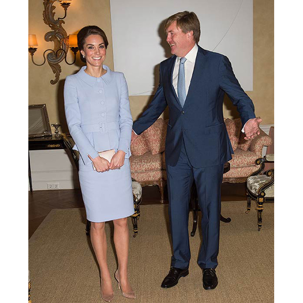 Kate met King Willem-Alexander at his official residence Villa Eikenhorst.