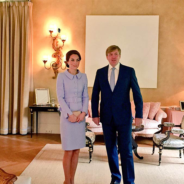 "Kensington Palace: ""HM King Willem-Alexander and The Duchess of Cambridge will have lunch at Villa Eikenhorst.""