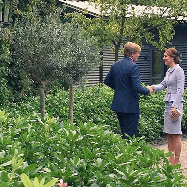 "Kensington Palace: ""His Majesty King Willem-Alexander has welcomed The Duchess of Cambridge to the Netherlands.""