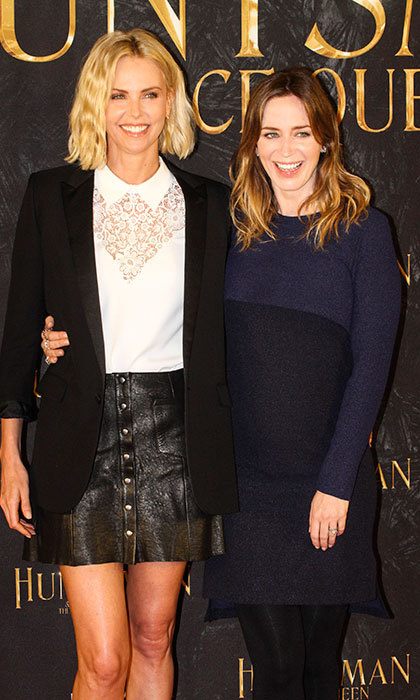 Charlize threw a baby shower for co-star and friend Emily Blunt. 