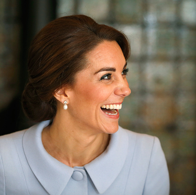The Duchess of Cambridge undertook her first solo trip abroad on Tuesday, taking a one-hour flight to the Netherlands.