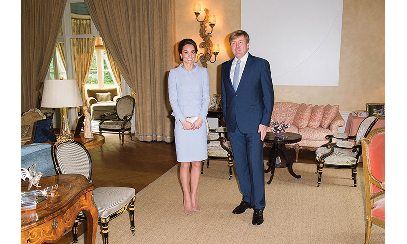 Kate was officially welcomed to the country by King Willem-Alexander at his residence Villa Eikenhorst.